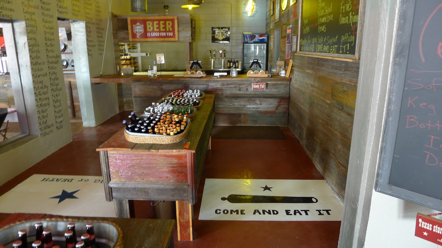 Get ready to order - the walk-up order area at Old 300 BBQ