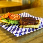 A basic hamburger special at Old 300 BBQ