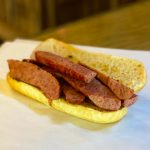 A Poncho Lefty sandwich at Old 300 BBQ